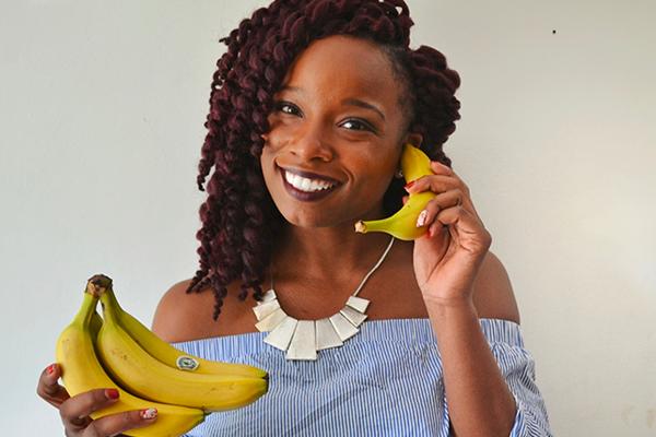 Bleue Rachel - Banane contact